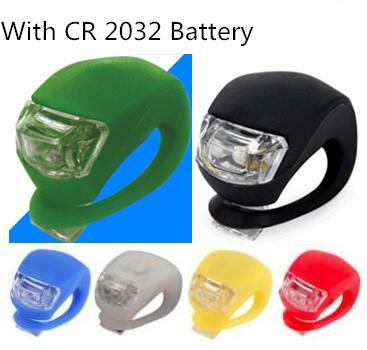 best selling Bicycle Cycling Lamp Silicone Bike Head Front Rear Wheel LED Flash Bicycle Light Lamp Bike Taillight Tail Lamp With The Battery #ww11