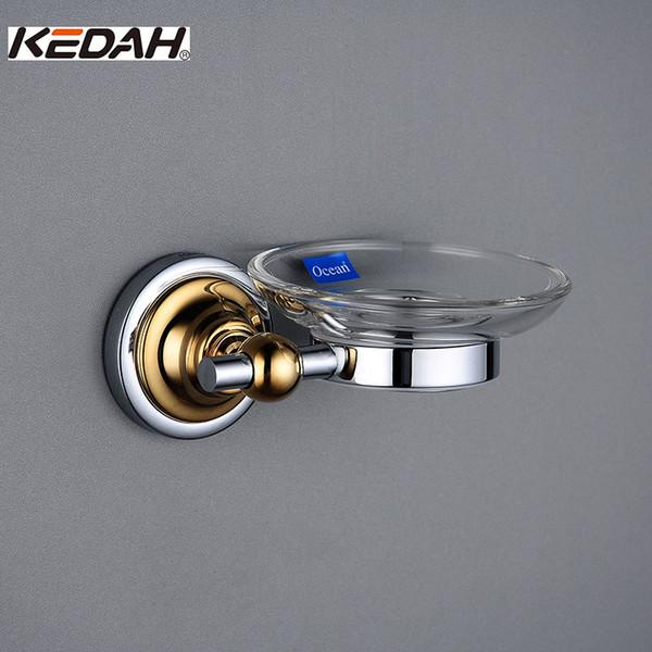 Kedah Bathroom Glass Soap Dishes Hardware Accessories Cromato in lega di alluminio di alta qualità Kd 9108