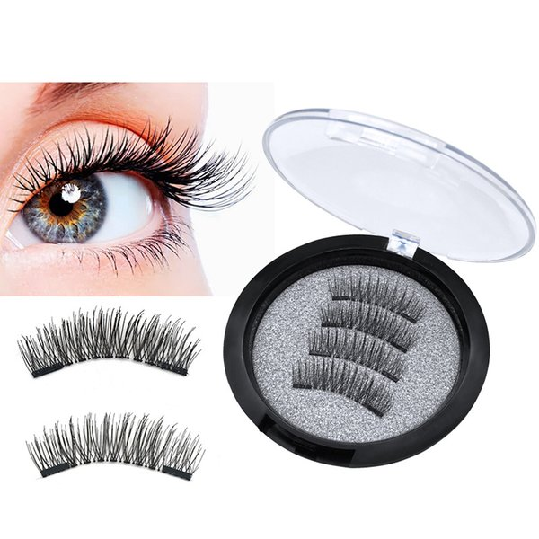 3D Magnetic Eyelashes Double Magnet False Eyelashes Extensions 3d Eyelash Extensions Fake Eye lashes Eyes Makeup 4pcs set