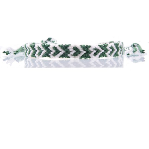 white dark green heart friendship bracelet embroidery thread braided slipknot summer beach surf bracelet for woman man unisex