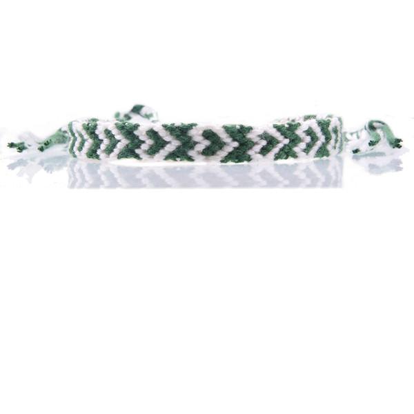 white dark green heart friendship bracelet embroidery thread braided slipknot summer beach surf bracelet for woman man unisex