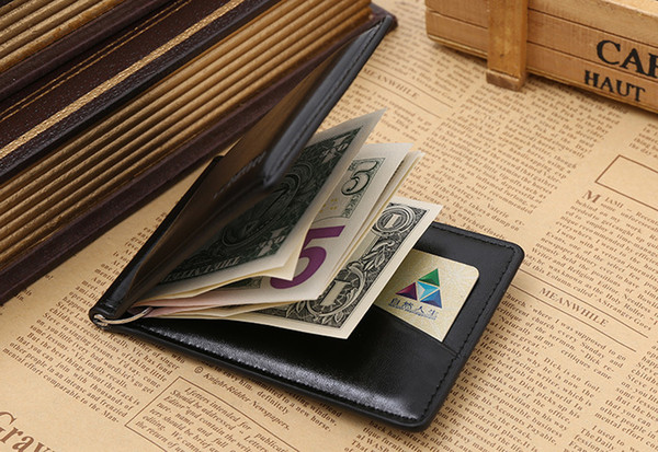 5 colors 2018 New Brand Men's Purse Wallet for Credit Cards Men's Wallet Leather Genuine High Quality Wallets with Card Holder Money Clip