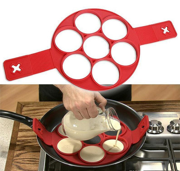 DHL Flippin EGG RINGS Fantastic Fast Easy Way to Make Perfect Pancakes Nonstick Pancake Maker Egg Ring Maker Silicone Kitchen Baking Moulds