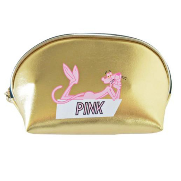 Cartoon Animal Panther Letter Cosmetic Bag Travel Zipper Make Up Case Organizer Storage Makeup Pouch Toiletry Beauty Wash Kit