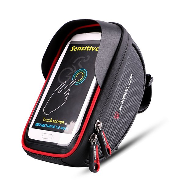 Waterproof Phone Mount Bike Bags MTB Mountain Bike Frame Front Tube Storage Bag Phone Holder Storage Case Bicycle Bags