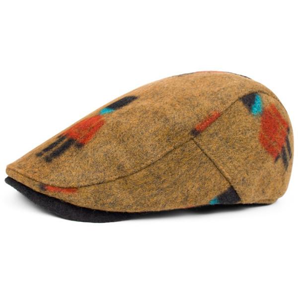 autumn winter wool campaniform unisex fashion peaked caps hats yellow blue British style handsome boinas beret for women men sir ladies