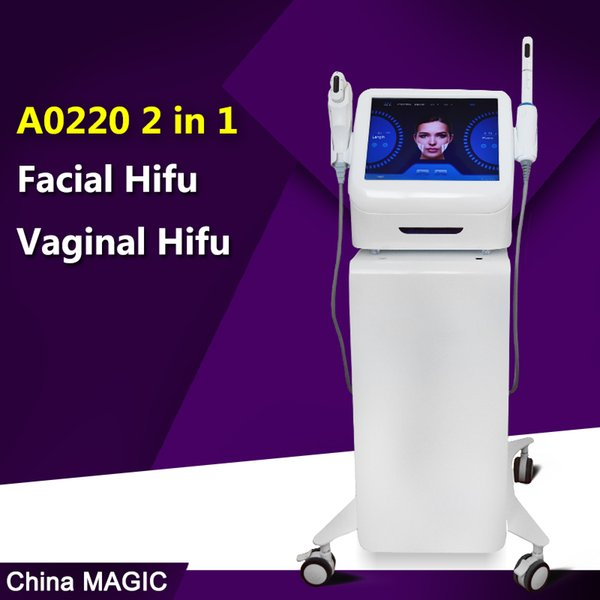 2 IN 1 hifu vaginal tightening machine face lifting HIFU wrinkle removal anti aging beauty salon home use vaginal private