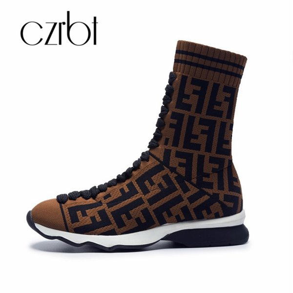 CZRBT new shoes women's knitting leisure women's boots fashion comfortable non-slip thermal wear-resistant shoes