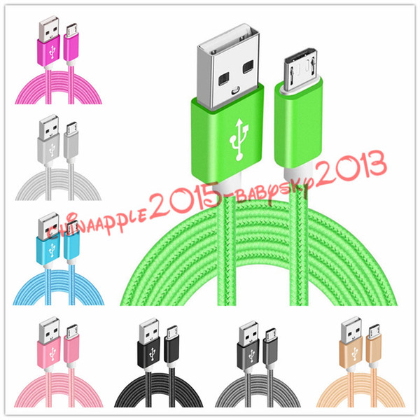 type-c braided cable fabric micro v8 usb data charging cable for samsung s4 s6 edge for xiaomi letv htg lg g5