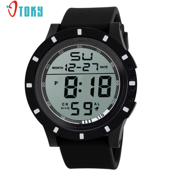 New Fashion Men Watches LED Digital Touch Screen Day Date Silicone Wrist Watch Creative May04