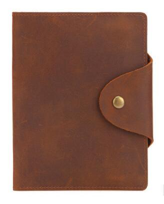 new Crazy Horse Leather wallet Genuine Leather Men Passport CoverPassport Holder Travel Document Cover Card & ID Holders