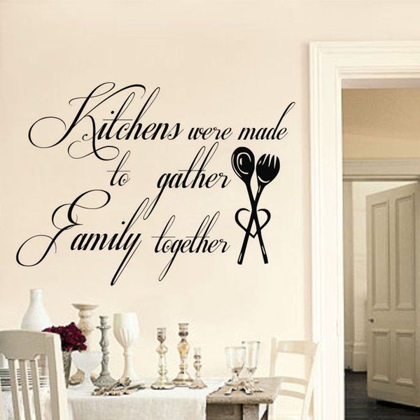 Home Decor Wall Stickers Kitchens Were Made To Gather Family Together Quote Wall Decals Vinyl Art Mural
