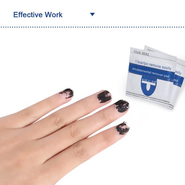 Vente chaude Nail Art Salon 200 pcs Gel Vernis Remover Wraps Easy Foil Art Cleaner Pour la livraison gratuite