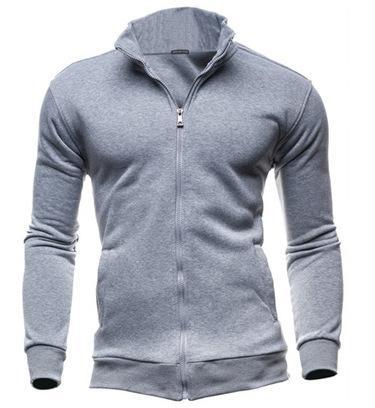 2018 Power Shield Top Moda Unisex Escudo Nuevo suéter deportivo de la cremallera del suéter de los hombres, capa, color puro Promoción de la rebeca real