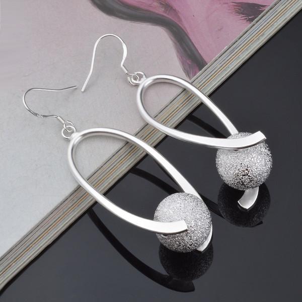 925 brincos de prata banhado a prata, jóias de prata, brincos de bola