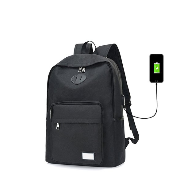 USB Charging Student Canvas Backpack For Leisure Or Traveling 15.6 Inch Business Laptop Bag Breathable Wearable Men Women Case
