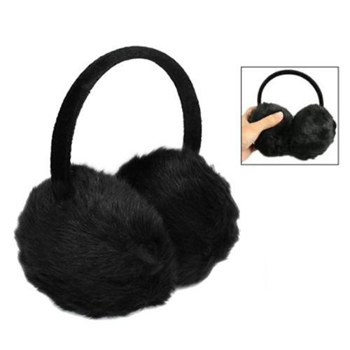 IMC Lady Woman Headband Black Faux Fur Winter Ear Cover Earmuffs