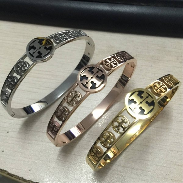 2018 TT sello de calidad superior de acero inoxidable 316L 3 colores chapado en oro diseño amor pulsera para mujer