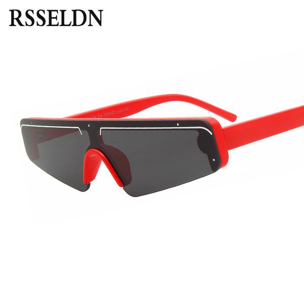 def4ba03bc30e RSSELDN Moda Semi-Rimless Óculos De Sol Das Mulheres Dos Homens de Luxo Da  Marca Designer de Olho de Gato Óculos de Sol Das Senhoras Espelho de Prata  Shades ...