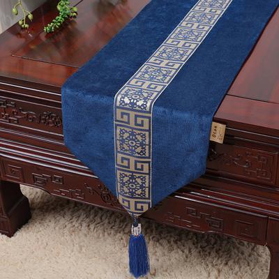 bleu royal floral 150x33 cm