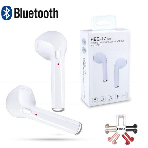 TWS I7 Ecouteurs Bluetooth Mini True Earbud Casque Portable Casque sans fil avec Microphone I7 Twins eaphone pour Iphone x 8