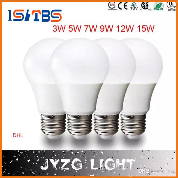 La lampe lumineuse superbe E27 LED de 3W 5W 7W 9W 12W 15W d'ampoule SMD d'angle de 360 LED a mené la lumière raide de boule