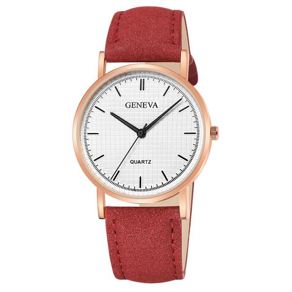 Moment # N03 DROPSHIP relogio 2018 Fashion Womens Ladies Watches Geneva Leather Analog Quartz Mens Wrist Watch Dress Gifts Watch