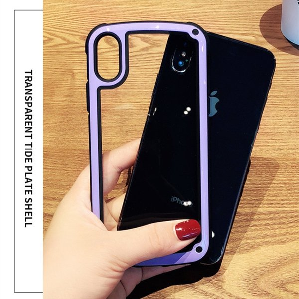 9H Tempered Glass Clear Jelly Bumper Case For iPhone XS Max XR X 8 7 6 Plus Samsung S9 S8 Air Cushion Transparent Phone Back Cover