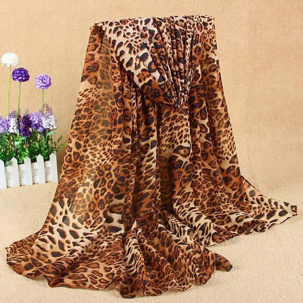 Women's New Classic Leopard Scarf Cotton And Linen scarves for women Wild designer brand luxury women new hot foulard femme