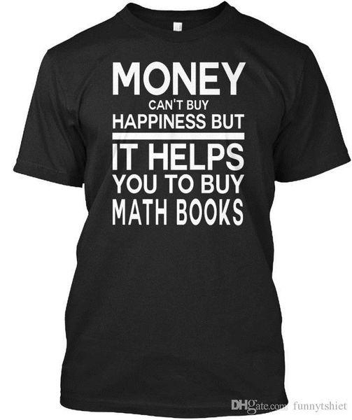 Camiseta 2017, pero te ayuda a comprar libros de matemáticas2 Camiseta unisex estándar Ropa casual de verano