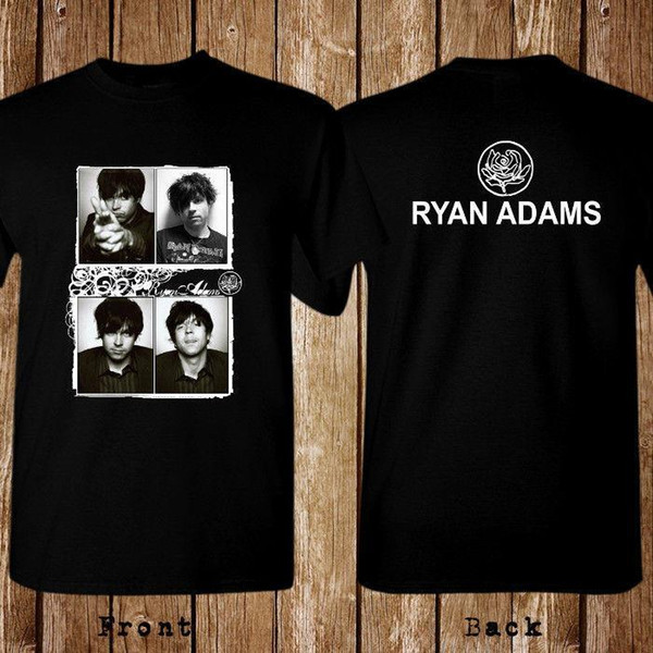New Ryan Adams American Singer Music Logo Men/'s Black T-Shirt Size S to 3XL