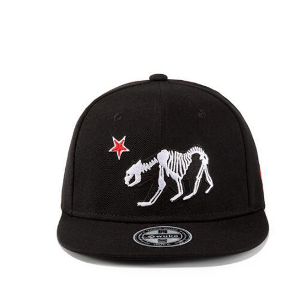 DHL Skull Skeleton Baseball Cap Men Solid Flat Bill Hip hop embroidery Adjustable Snapback Hats Unisex