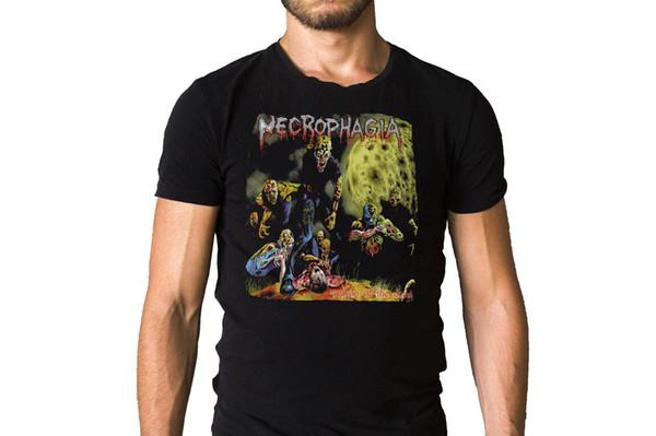 Некрофагия сезон мертвых 1987 Обложка альбома футболка мужская 2018 модный бренд футболка О-образным вырезом 100%хлопок