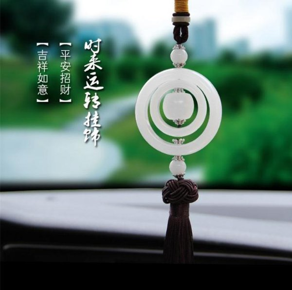 High grade jade stone transport beads, car hanging car pendants, jade safety buckle running around ornaments