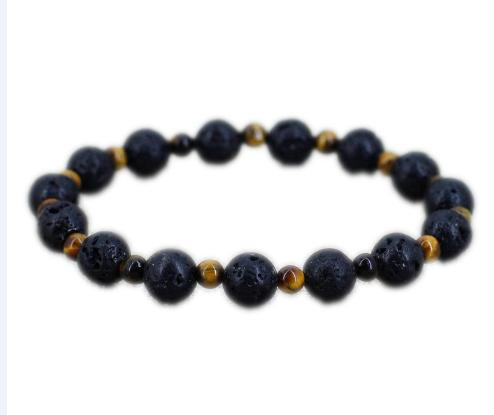 12pcs/lot Tiger eye bracelet Lava bracelet Viking jewelry Urban cowboy accessories for men Casual outfitbracelet gift