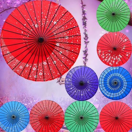 PoeticExst New long-straight traditional Japanese vintage craft umbrellas Wedding decoration paper parasols