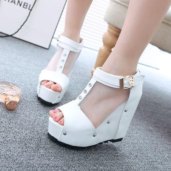 Fashion 2018 new summer European foreign trade female models feet strap sandals sexy super high heel stiletto women's shoes