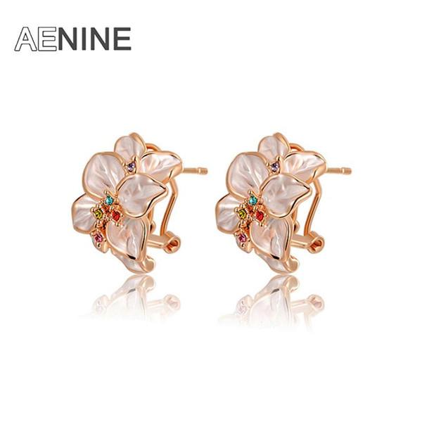 fashion new arrival genuine Austrian crystal rose ear clip women trendy earrings Chrismas /Birthday gift L2020022420