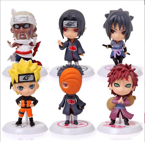 Hot Classic Figurine 6pcs/set Naruto PVC Action Figure Toys Full Set Model Collection Toys For Kids Cute Naruto Gaara