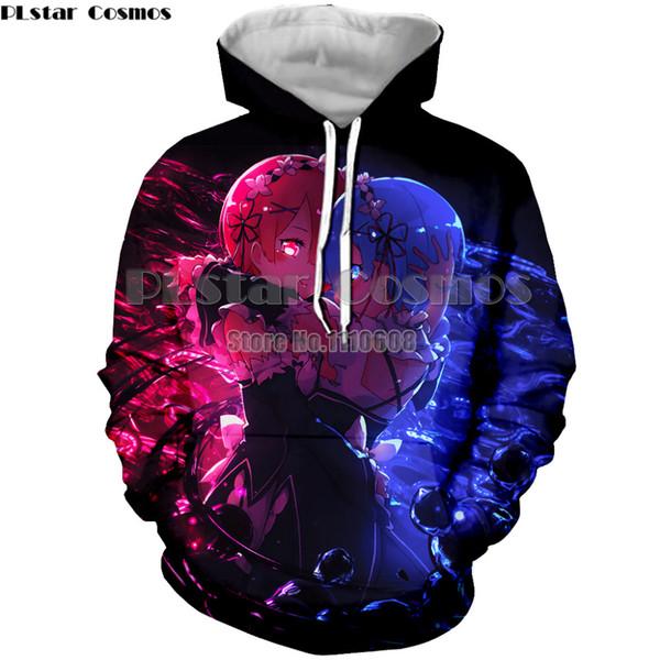 Başka bir Dünyada re ZERO Başlangıç Hayat hoodie Rem Ram kadın erkek sonbahar Hoodies Cosplay ceket ceket anime hoodie sweatershirt