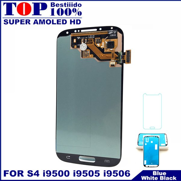 Tested Super AMOLED Phone LCD For Galaxy SIV S4 i9500 i9505 i9506 i337 LCDs Display Touch Digitizer Screen Replacement