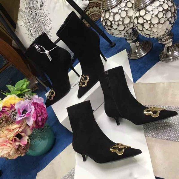 2018 Yüksek topuklu bayan bot, lüks bayan bot, tasarımcı bayan bot, topuk yüksekliği 9cm veya 4cm, size: 35-39