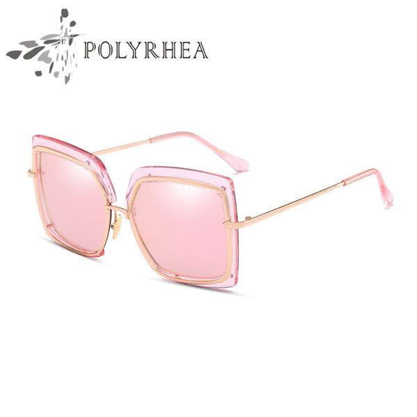 Fashion Luxury Sunglasses Retro Vintage Men Brand Designer Shiny Gold Frame Laser Logo Women High Quality Top Quality With Box