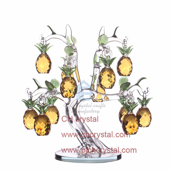 30mm Cut Crystal Glass Pineapple Hanging Home Paty Ornaments Decoration Birthday Christmas Souvenir Gifts Crafts Art&Collection