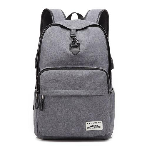 AUGUR Fashion Backpacks Anti-thief USB Charging Men Women Casual Bag Travel Teenager Student School Laptop Back pack