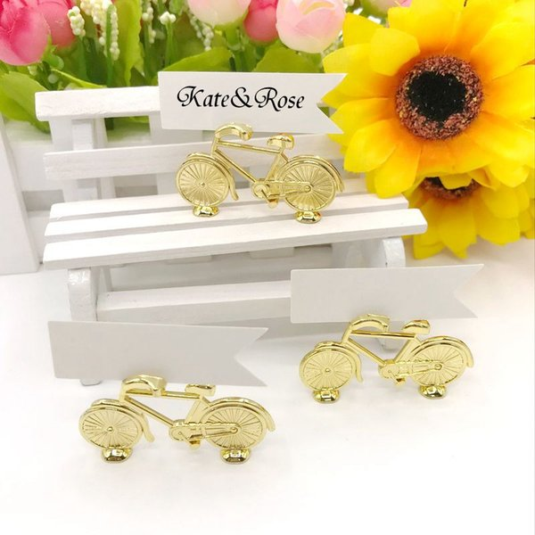 """200pcs Wedding Place card holder """"Le Tour"""" Bicycle Place Card holder With Card antique wedding gift Party Favors Free shipping"""