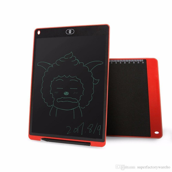 1pcs 12 Inch LCD Writing Digital Tablets Handwriting Graphic Pads Portable Electronic Memo Notepads Message Board For Drawing