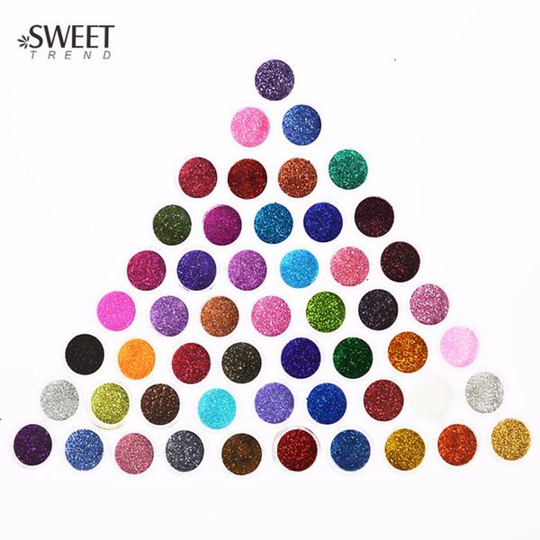 Compre 60 Piezas Diferentes Colores Polvo De Brillo De Uñas 3d Decoración De Arte De Uñas Acrílico Uv Gema Esmalte De Uñas Herramientas De Arte