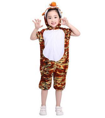 2018 New style children Cosplay Tiger Mouse Frog Animal perform clothing Boys and girls Dance Conjoined clothes
