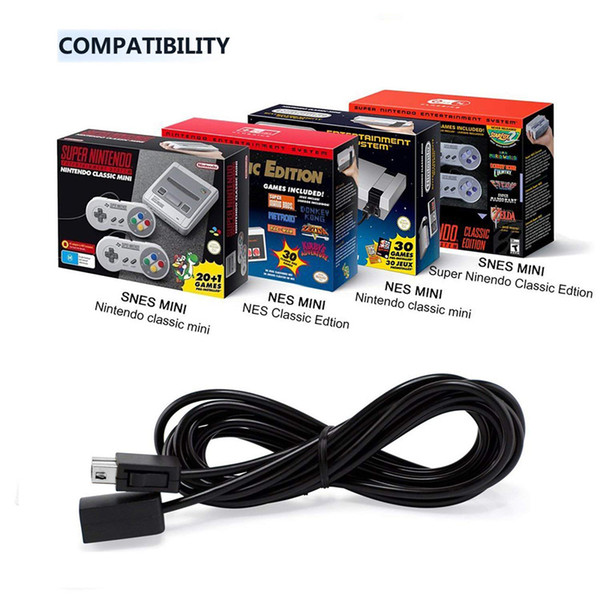 best selling Extension Cable 3M 10ft for Super Nintendo SNES Classic Edition Controller for Mini NES Classic Edition